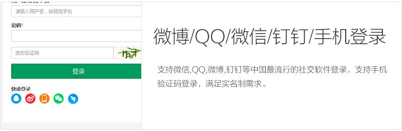 WordPress QQ/微博/微信/钉钉/手机登录插件